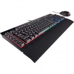 Corsair Bundle Gaming Keyboard K55 RGB + Gaming Mouse Harpoon RGB voor €59,90
