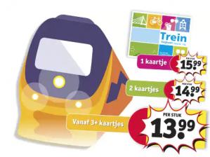 Kruidvat treinkaartjes vanaf €13,99 ( 3 stuks ) online te bestellen