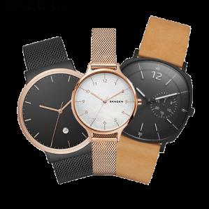 Vijf verschillende Skagen horloges met 42% korting
