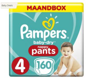 Diverse Pampers maandboxen en billendoekjes tot 40% korting