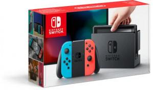 Nintendo Switch met Switch Rood en Blauw Joy-Con voor €271,85 dmv code