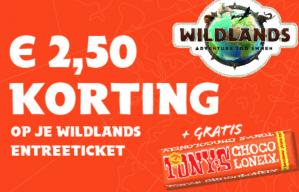 €2,50 korting op je tickets + gratis reep Tony's Chocolonely