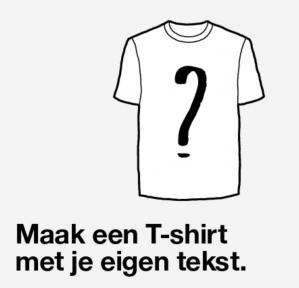 Ontwerp je eigen t-shirt voor €3,99