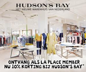 10% korting op Hudson's Bay