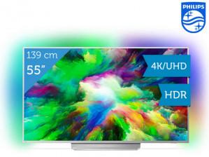 """Philips 55"""" 4K/UHD LED TV voor €799"""