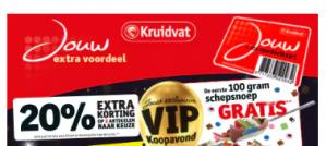 VIP Avond Kruidvat België 20% extra korting