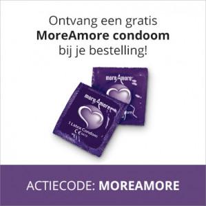 Gratis MoreAMore condoom bij je bestelling