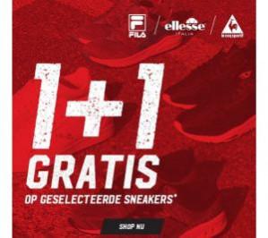 Aktiesport sale 1 + 1 gratis op geselecteerde sneakers.
