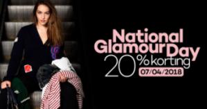 20% korting tijdens National Glamour Day, 7 april 2018