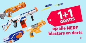 NERF blasters en darts 1+1 Gratis