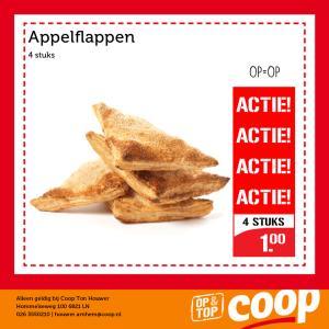 4 appelflappen voor €1