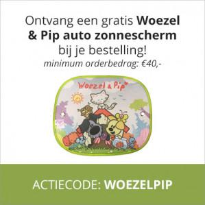 Gratis Woezel & Pip zonnescherm bij je bestelling