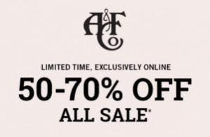 Abercrombie & Fitch sale tot 70% extra korting op de sale