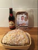 Bij aankoop van 1 flesje Leffe een Leffe bierbrood Gratis