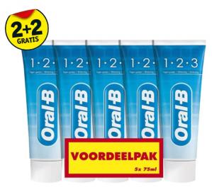 Oral-B mondverzorging 2+2 gratis