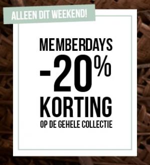 Hunkemöller membersday met 20% korting