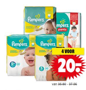 4 Pakken Pampers voor €20