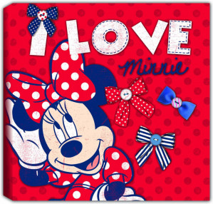 Disney - Minnie Mouse - Canvas - Rood - 30x30 cm voor €1