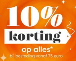 Blokker sale met 10% korting