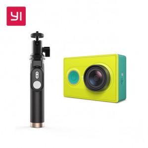 YI Actie Camera 1080 P Lime Groen Wit met originele selfie-stick voor €41,23