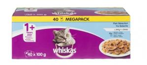 Whiskas vis maaltijdzakjes 40 stuks voor €8,99