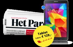 1 jaar Het Parool + GRATIS Samsung tablet vanaf €4 p.w.