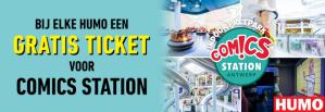 Gratis ticket voor Comics Station Antwerpen bij aankoop van Humo product
