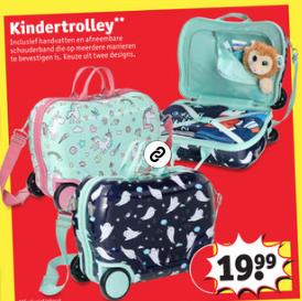 Kinder Trunki Trolley voor €19,99