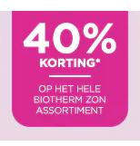 Biotherm zon assortiment 40% korting