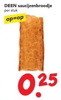 Saucijzenbroodje voor €25