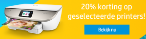 20% korting op geselecteerde printers
