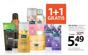 1+1 gratis op alle Kneipp producten bij Etos