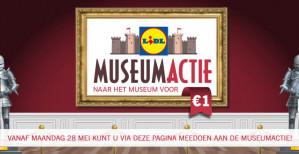 Bezoek een museum voor €1 vanaf een besteding van €10