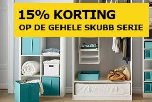 Ikea Skubb kledingopbergserie 15% korting