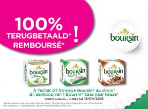 Gratis Boursin kaas dmv cashback voor Belgie en Luxemburg