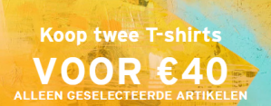 Levi's sale nu 2 shirts voor €40