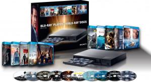 Sony BDP-S1700 - Blu-ray-speler - Incl. 10 Blu-Ray films voor €119