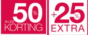 Expresso sale met 25% extra korting op de sale van 50%