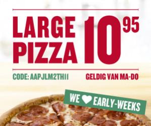 Diverse Papa John's pizza's vanaf €5 dmv codes