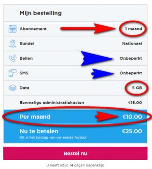 Lebara Sim Only voor €10 pm (maandelijks opzegbaar)
