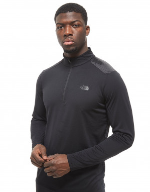 The North Face Versitas Camo 1/2 Zip Top Heren - Black/Grey - Heren voor €30