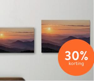 30% korting op canvas wanddecoratie dmv code