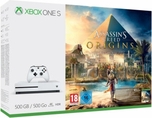 Xbox One S Console 500 GB + Assassin's Creed Origins (Digitale Download) + Call of Duty WWII voor €177