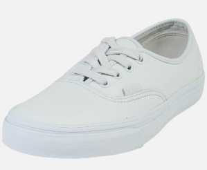 Vans Authentic wit leer voor €23,92