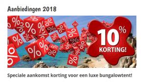 -10% op een luxe bungalowtent