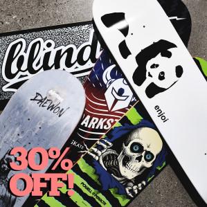 Skate Sale; 30% korting op geselecteerde items