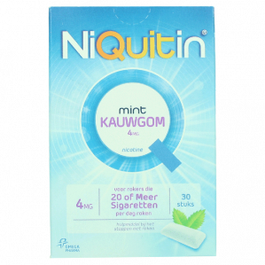 Niquitin Kauwgom frisse mint smaak 4Mg 100st voor €0,98
