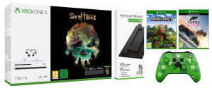 Xbox One S 1TB Console Sea of Thieves Bundle with Vertical Stand/Forza Horizon 3/Minecraft Explorers Pack/Wireless Controller Minecraft Creeper voor €226
