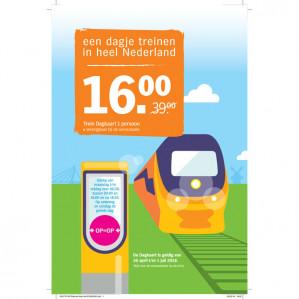 NS Trein dagkaart voor €16