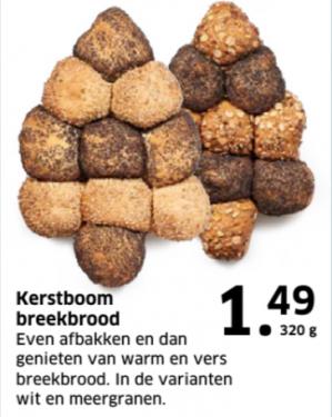 -50% korting op Kerstboom Breekbrood bij Lidl